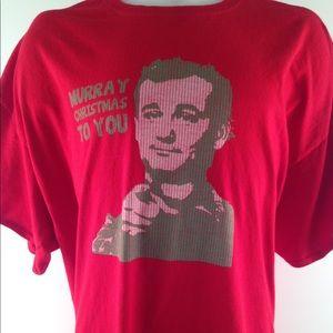 Bill Murray Murray Christmas to you Graphic Tee